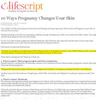 Lifescript.com: Dr. Hellman speaks about body changes during pregnancy