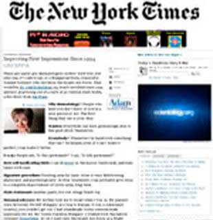 The New York Times: Improving First Impressions Since 1994