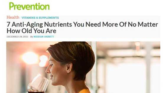Prevention: Dr. Hellman Featured in article '7 Anti-Aging Nutrients You need More of No Matter How Old You Are'